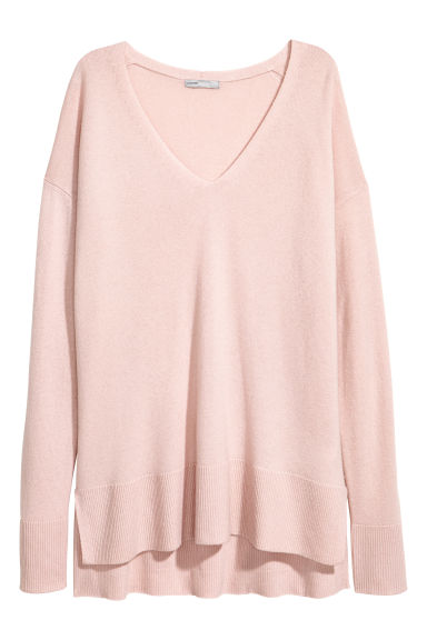 V領喀什米爾套衫 - Light pink - Ladies | H&M 1