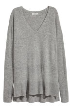 V-neck cashmere jumper - Grey marl - Ladies | H&M CN 1