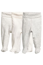 3-pack jersey trousers - Grey/White striped - Kids | H&M 1