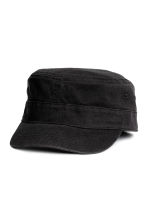 Cotton twill cap - Black - Ladies | H&M 1