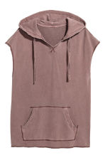 Sleeveless hooded top - Burgundy washed out - Men | H&M 2