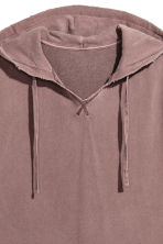 Sleeveless hooded top - Burgundy washed out - Men | H&M 3
