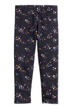 Leggings in jersey consistente - Blu scuro/stelle - BAMBINO | H&M IT 2