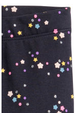 Sturdy jersey leggings - Dark blue/Stars - Kids | H&M 3