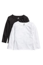 2-pack jersey tops - White/Black -  | H&M 1