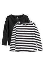 2-pack jersey tops - Black - Kids | H&M 2