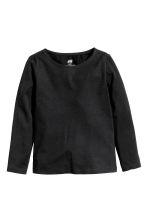 2-pack jersey tops - Black - Kids | H&M 3