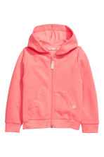 Hooded jacket - Coral pink - Kids | H&M 1