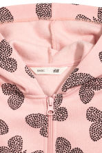 Hooded jacket - Light pink/Butterflies - Kids | H&M 3