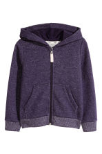 Hooded jacket - Purple/Glittery - Kids | H&M CN 2