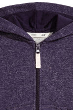 Hooded jacket - Purple/Glittery - Kids | H&M CN 3