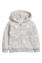 Hooded jacket - Grey heart - Kids | H&M 2
