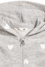 Hooded jacket - Grey heart - Kids | H&M CN 3