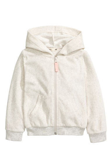 連帽外套 - Light grey marl -  | H&M