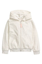 Hooded jacket - Light grey marl -  | H&M 2