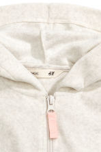 Hooded jacket - Light grey marl - Kids | H&M CN 3