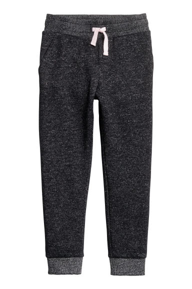 Joggers - Black/Silver-coloured -  | H&M 1