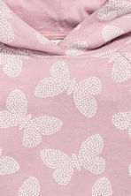 Patterned hooded top - Light pink/Butterflies - Kids | H&M CN 3