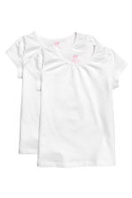 2-pack jersey tops - White - Kids | H&M CN 2