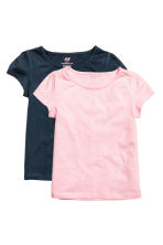 2-pack jersey tops - Light pink - Kids | H&M 2