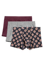 Set van 3 boxershorts - Trunk - Bordeauxrood/donuts - HEREN | H&M BE 2