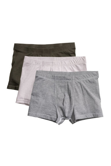 3-pack trunks - Grey/Striped - Men | H&M 1