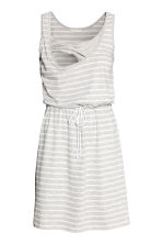 MAMA Nursing dress - Light grey/Striped - Ladies | H&M CN 3