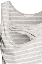 MAMA Nursing dress - Light grey/Striped - Ladies | H&M CN 4