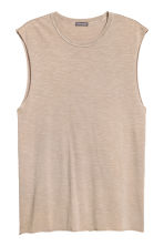Slub jersey vest top - Beige - Men | H&M 2