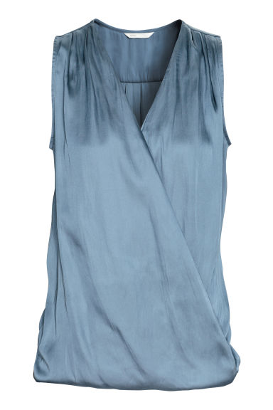 MAMA Nursing blouse - Blue - Ladies | H&M