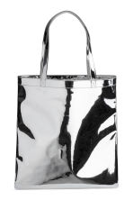 Shimmering metallic shopper - Silver - Ladies | H&M 1