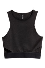 Cut-out vest top - Black - Ladies | H&M IE 2