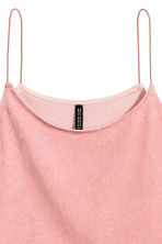 Crushed velvet strappy top - Dusky pink - Ladies | H&M CN 3