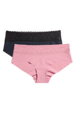 2-pack hipster briefs - Dusky pink/Black - Ladies | H&M CN 2