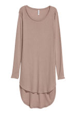 Lange tricot top - Taupe - DAMES | H&M BE 2