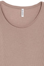 Lange tricot top - Taupe - DAMES | H&M BE 3