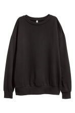 Oversized sweatshirt - Black - Ladies | H&M 2