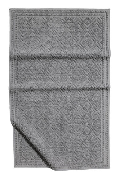Jacquard-weave bath mat - Anthracite grey - Home All | H&M GB 1