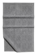 Jacquard-weave bath mat - Anthracite grey - Home All | H&M CN 1
