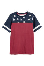 Printed T-shirt - Red/Blue - Kids | H&M 2