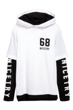Jersey hooded top - White -  | H&M 2