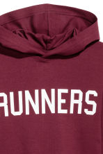 Jersey hooded top - Burgundy - Kids | H&M 2
