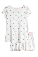 Jersey pyjamas - Light grey/Heart - Kids | H&M 1
