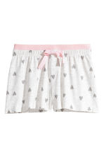 Jersey pyjamas - Light grey/Heart - Kids | H&M 2