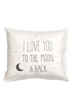 Cotton pillowcase - White/Moon - Home All | H&M CN 2