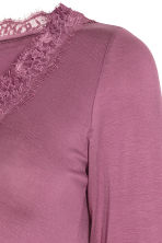 MAMA V-neck top - Heather purple - Ladies | H&M 3