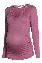 MAMA V-neck top - Heather purple - Ladies | H&M 2