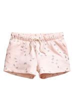 Jersey shorts - Powder pink/Butterflies - Kids | H&M CN 2
