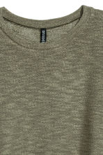 Knit Sweater - Khaki green - Ladies | H&M CA 3