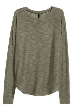 Knit Sweater - Khaki green - Ladies | H&M CA 2